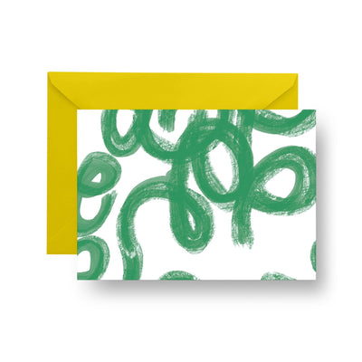Folded Notecard Green Penelope Folded Notecard Set