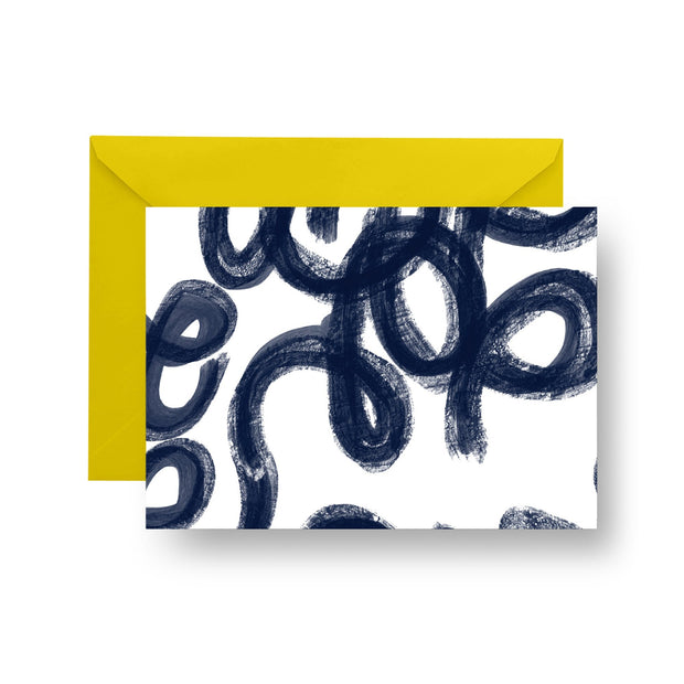 Folded Notecard Navy Penelope Folded Notecard Set