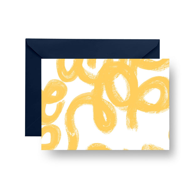 Folded Notecard Yellow Penelope Folded Notecard Set