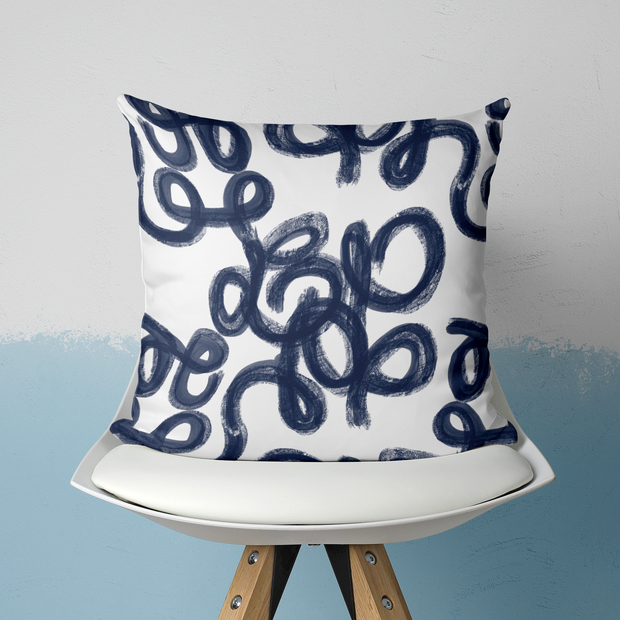 Pillows Navy / With Insert / 20x20 Penelope Outdoor Pillow