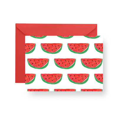 Folded Notecard Red Picnic Folded Notecard