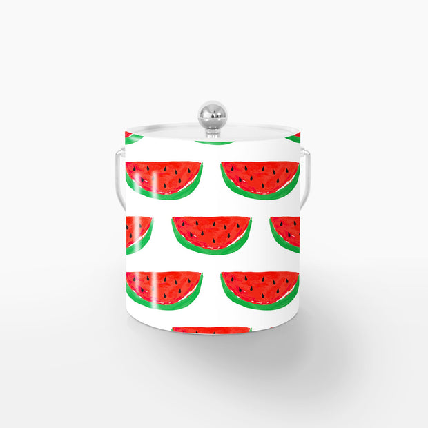 Ice Bucket Silver / Red Picnic Ice Bucket