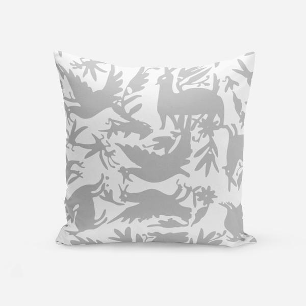 Pillows Grey / Broadcloth / 14x20 Otomi Pillow