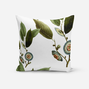 Pillows White / Broadcloth / 14x20 Medallion Leaves