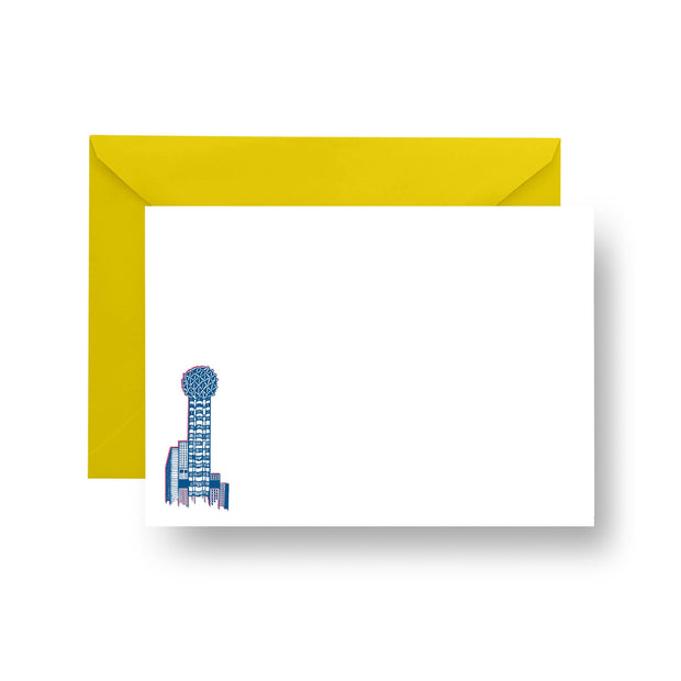 Flat Notecard Reunion Tower Flat Notecard Set