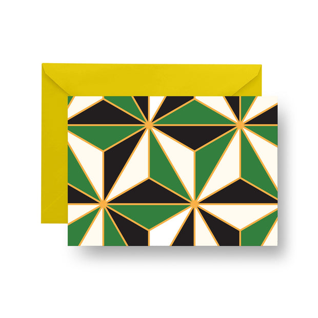 Folded Notecard Green Riviera Folded Notecard Set
