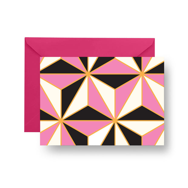 Folded Notecard Pink Riviera Folded Notecard Set