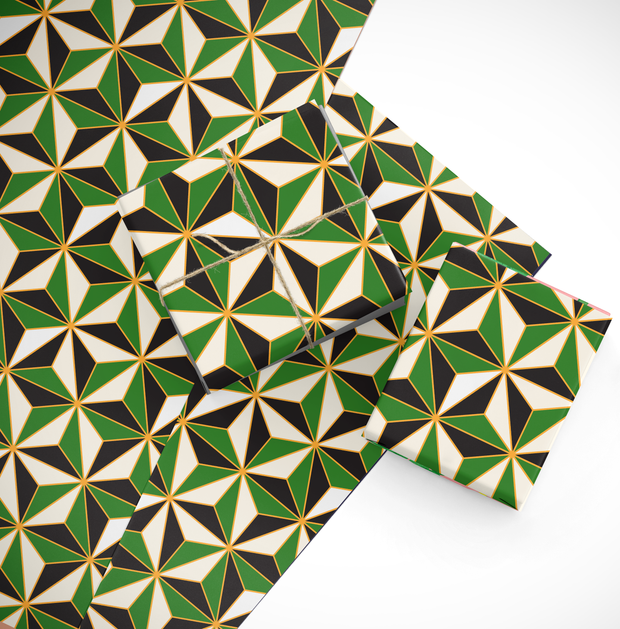 Gift Wrap Green Riviera Gift Wrap