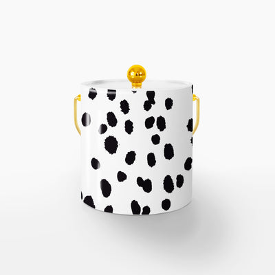 Ice Bucket Gold / Black Seeing Spots 3QT Ice Bucket