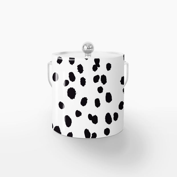 Ice Bucket Silver / Black Seeing Spots 3QT Ice Bucket