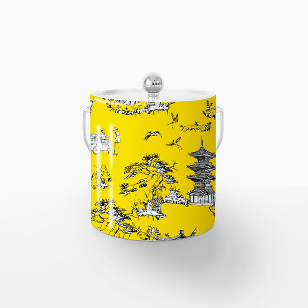 Ice Bucket Silver / Yellow Shangri La 3QT Ice Bucket