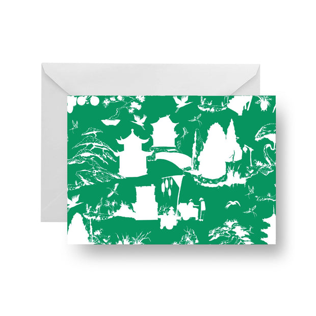 Folded Notecard Hunter Shangri La Folded Notecard Set
