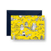 Folded Notecard Yellow Shangri La Folded Notecard Set