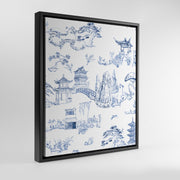 Gallery Prints Navy / 8x10 / Black Shangri La Toile Canvas