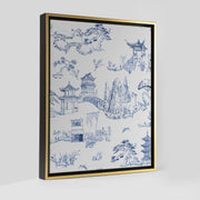 Gallery Prints Navy / 8x10 / Gold Shangri La Toile Canvas