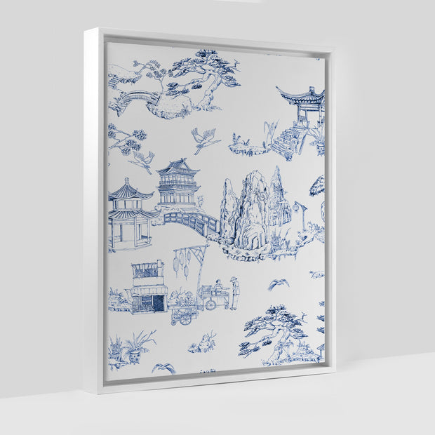 Gallery Prints Navy / 8x10 / White Shangri La Toile Canvas