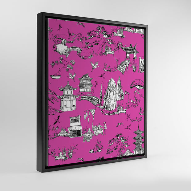 Gallery Prints Pink / 8x10 / Black Shangri La Toile Canvas