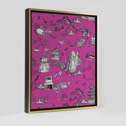 Gallery Prints Pink / 8x10 / Gold Shangri La Toile Canvas