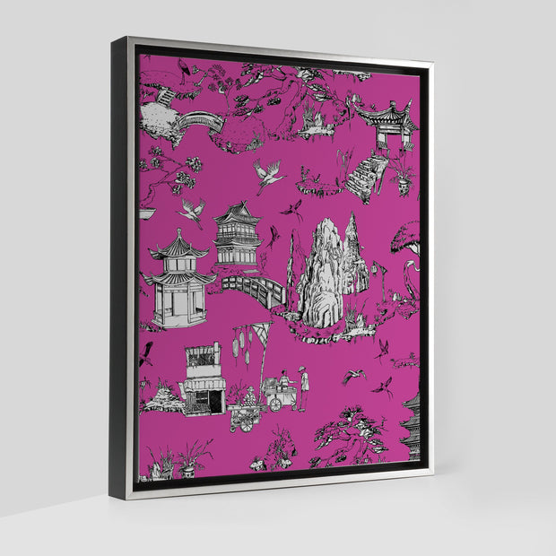 Gallery Prints Pink / 8x10 / Silver Shangri La Toile Canvas