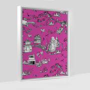 Gallery Prints Pink / 8x10 / White Shangri La Toile Canvas