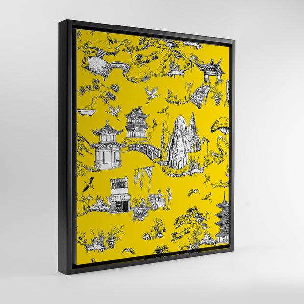 Gallery Prints Yellow / 8x10 / Black Shangri La Toile Canvas