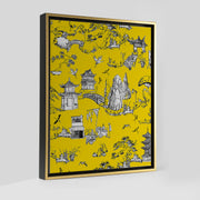 Gallery Prints Yellow / 8x10 / Gold Shangri La Toile Canvas