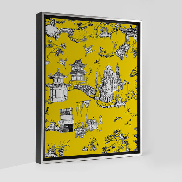 Gallery Prints Yellow / 8x10 / Silver Shangri La Toile Canvas