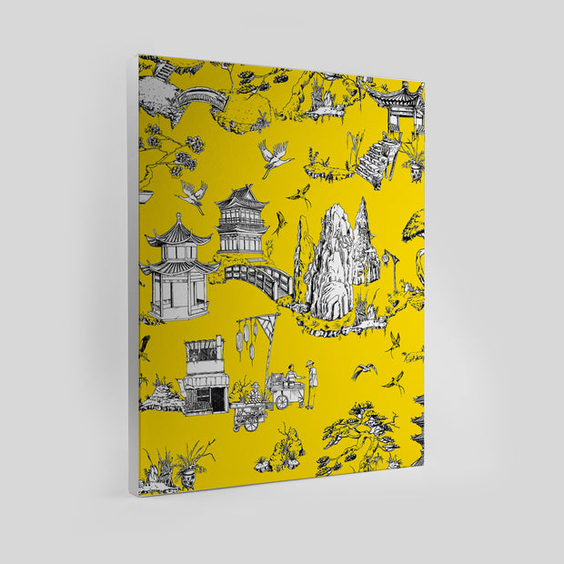 Gallery Prints Yellow / 8x10 / Unframed Shangri La Toile Canvas