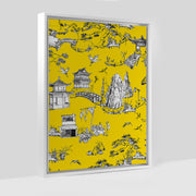 Gallery Prints Yellow / 8x10 / White Shangri La Toile Canvas