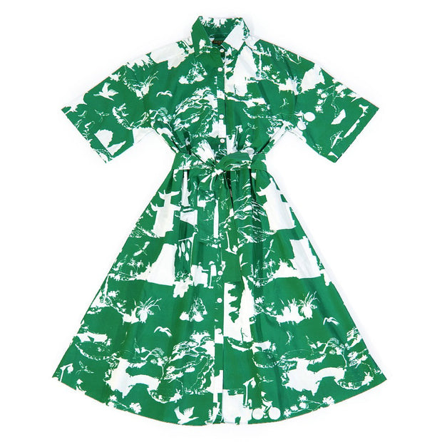 Dress Shangri La Toile Dress - Hunter Green