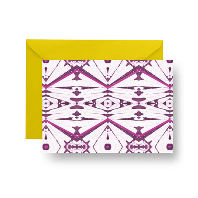 Folded Notecard Maroon Sienna Folded Notecard Set