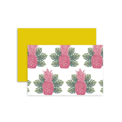 Folded Notecard Spring Pineapples Folded Notecard Set