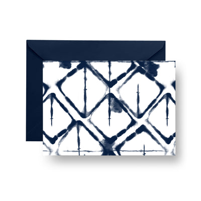 Folded Notecard Navy Strata Folded Notecard Set