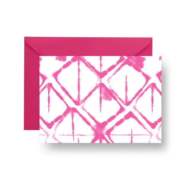 Folded Notecard Pink Strata Folded Notecard Set