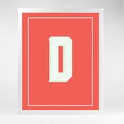 Gallery Prints D The Letter Series