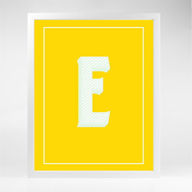 Gallery Prints E The Letter Series