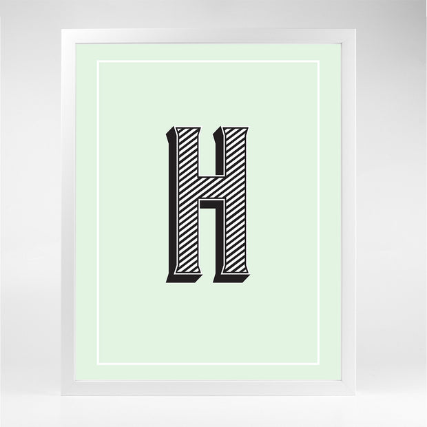 Gallery Prints H The Letter Series
