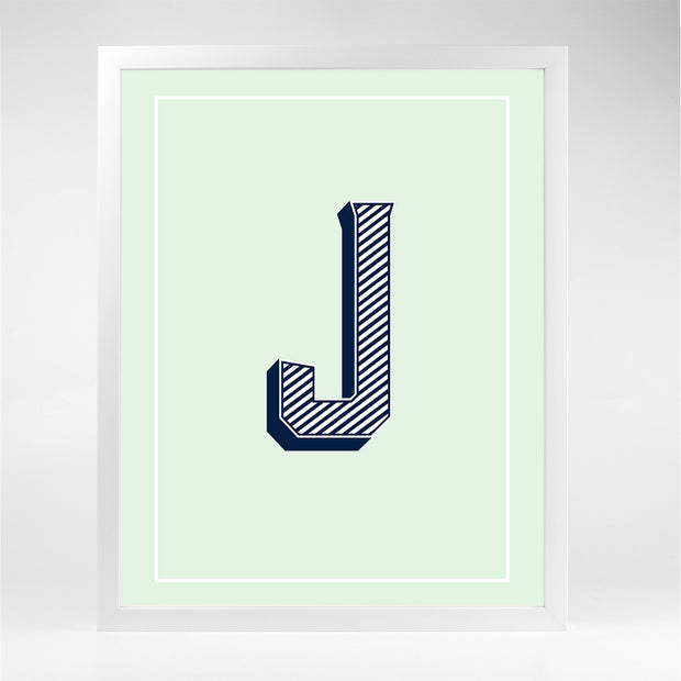 Gallery Prints J The Letter Series