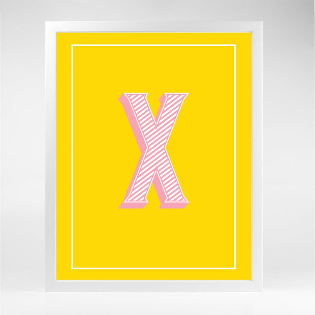Gallery Prints X The Letter Series