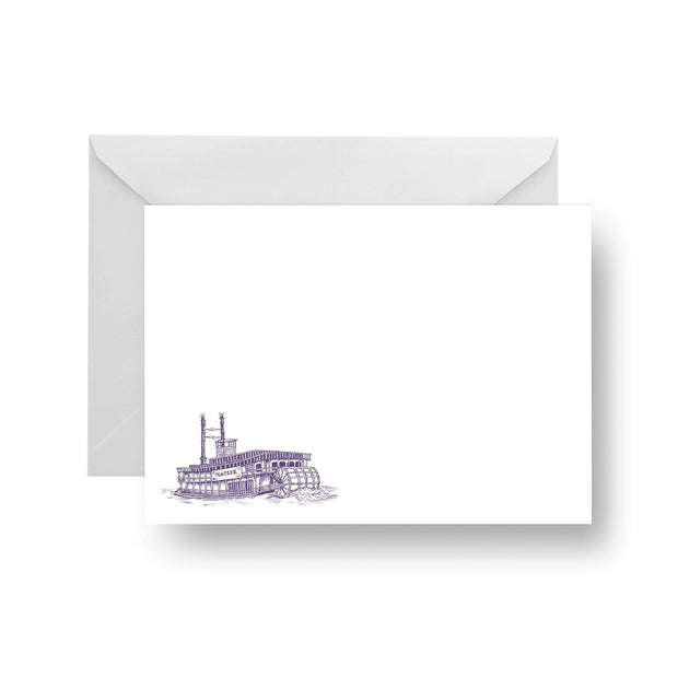 Flat Notecard Printed Notecard The Steamboat Notecard Set