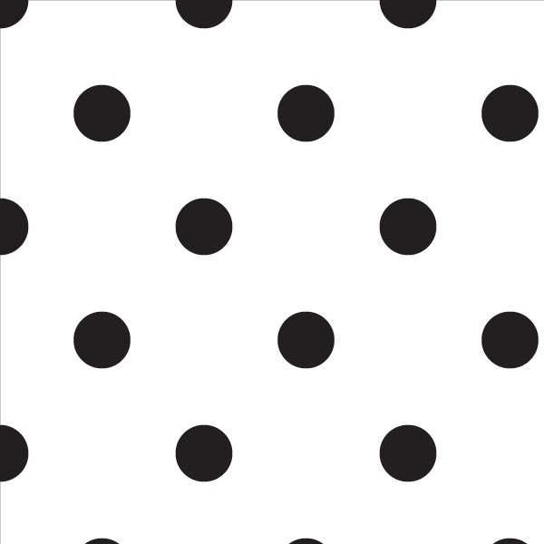 Wallpaper Double Roll / Black Polka Dot Wallpaper