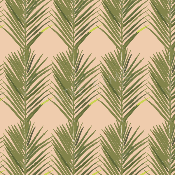 Wallpaper Double Roll / Coral Palms Wallpaper