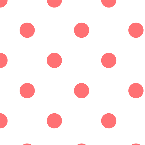 Wallpaper Double Roll / Coral Polka Dot Wallpaper