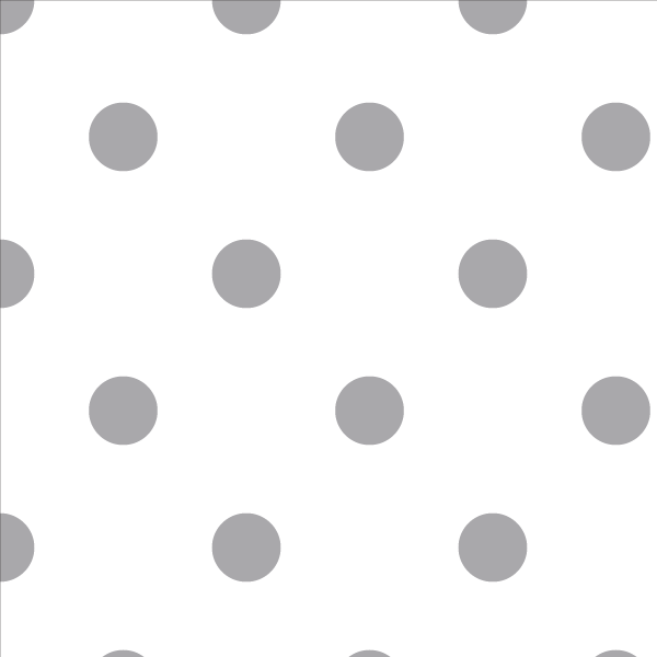 Wallpaper Double Roll / Grey Polka Dot Wallpaper