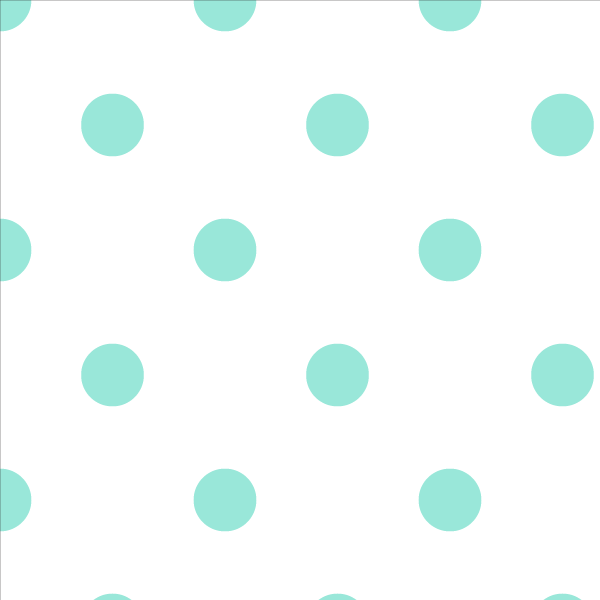 Wallpaper Double Roll / Mint Polka Dot Wallpaper