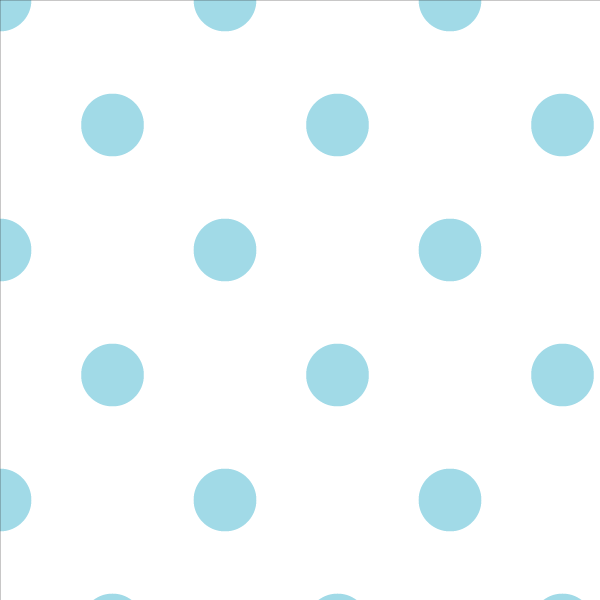 Wallpaper Double Roll / Sky Blue Polka Dot Wallpaper