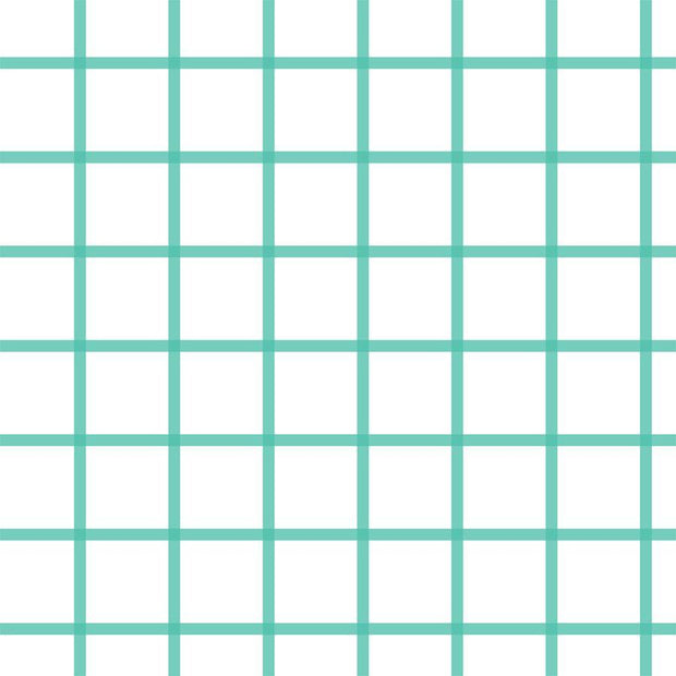 Wallpaper Double Roll / Teal In Check Wallpaper
