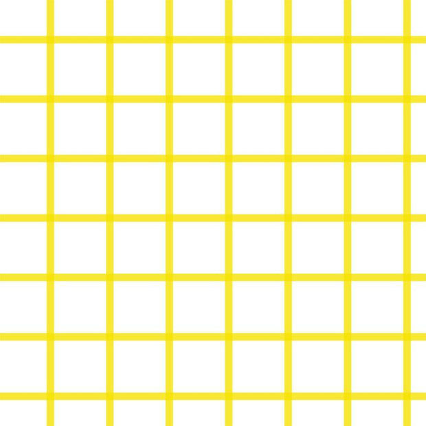 Wallpaper Double Roll / Yellow In Check Wallpaper