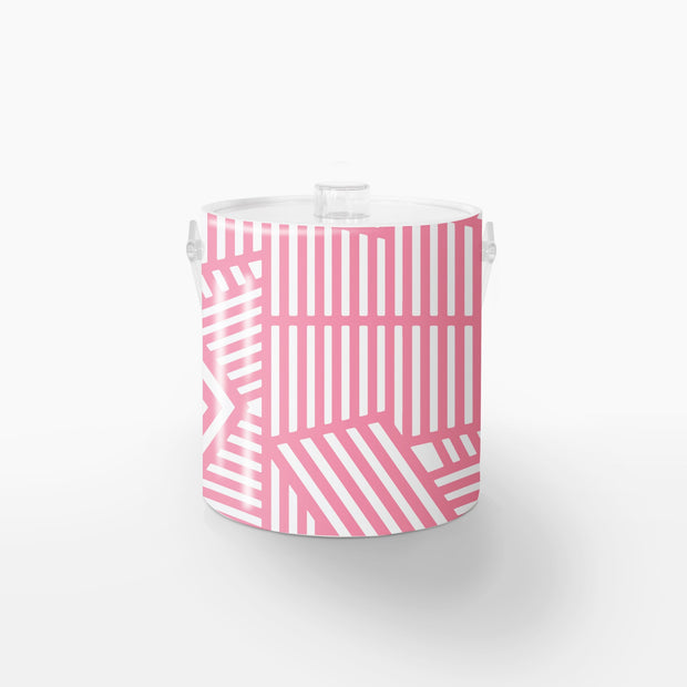 Ice Bucket Lucite / Pink Wayfinder 3QT Ice Bucket