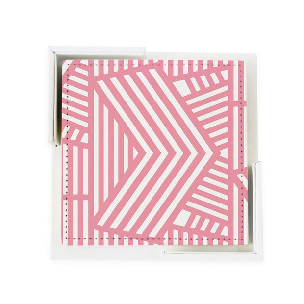 Coaster Set Pink Wayfinder Coaster Set
